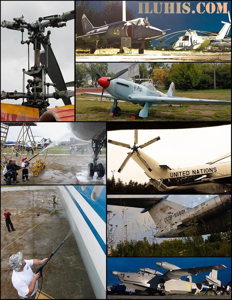Мойка самолетов в киевском музее авиации.