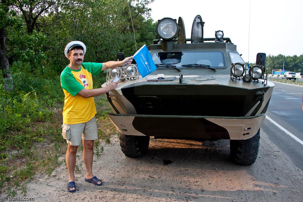 """Пробег по следам """"Антилопы Гну"""" в по городу Луганск. БРДМ-2, Л-2АГ"""