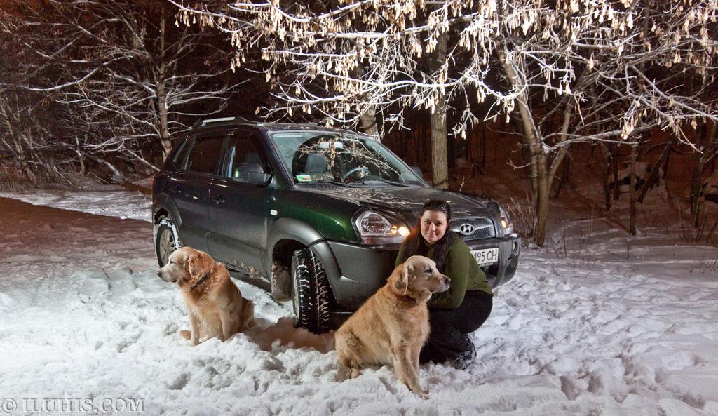 Скромная фотосессия Hyundai Tucson, Suzuki SX и их хозяев.