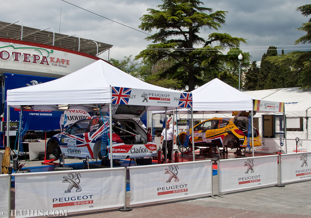 Yalta Rally 2011. Peugeot UK team