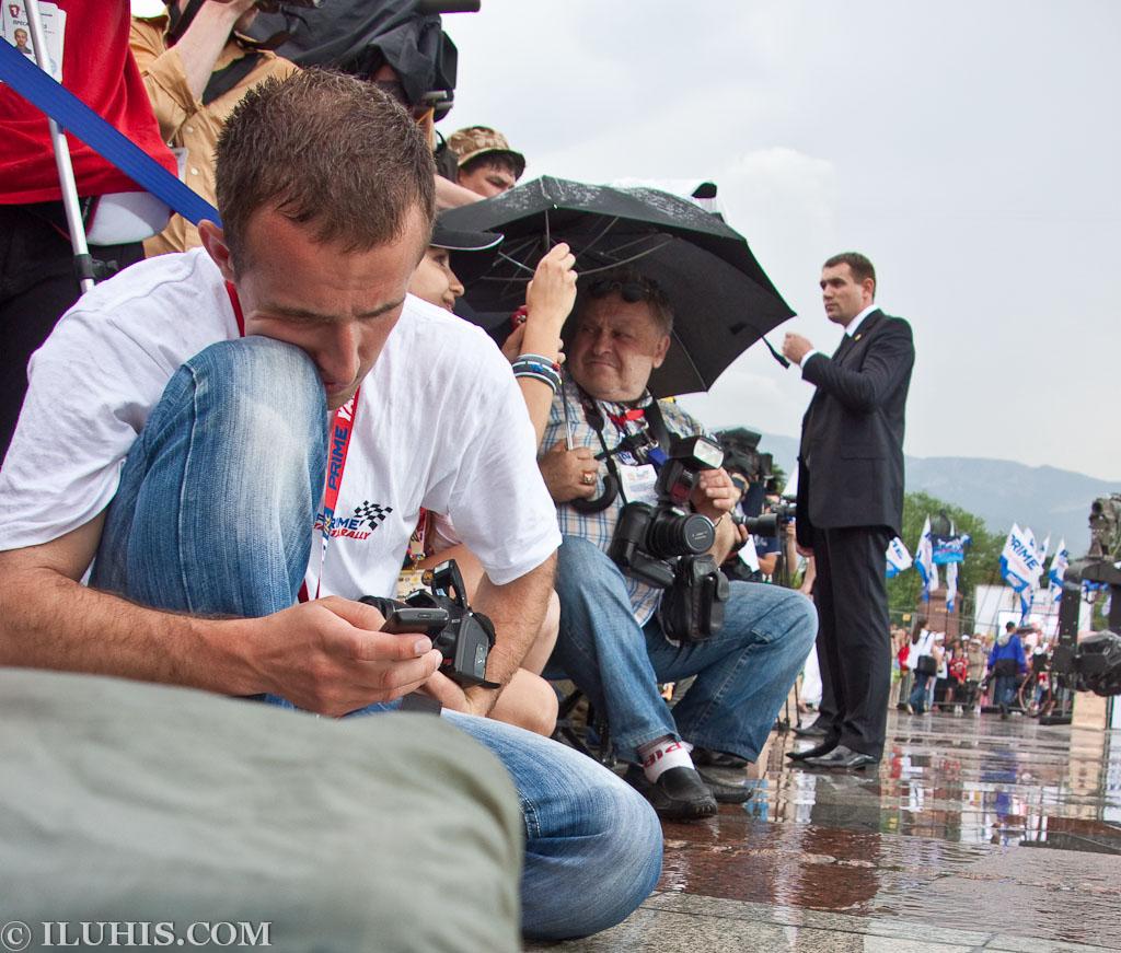 Yalta Rally 2011. Журналисты на открытии