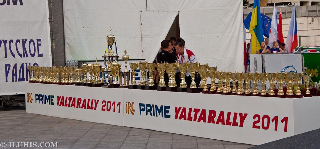Yalta Rally 2011. Призвые кубки