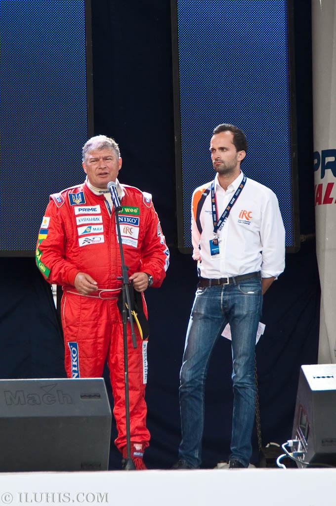 Е.А. Червоненко на закрытии Yalta Rally 2011