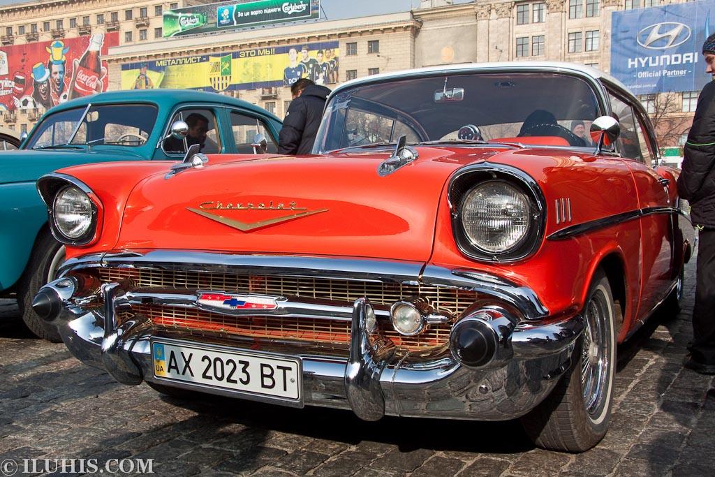 Chevrolet Bel Air coupe.  Выставка раритетной техники Самоход. Харьков