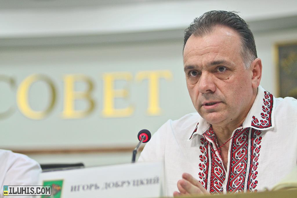 Игорь Добруцкий в вышиванке