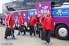Сборные Голландии и Дании по футболу на ЕВРО 2012 в Харьковском аэропорту