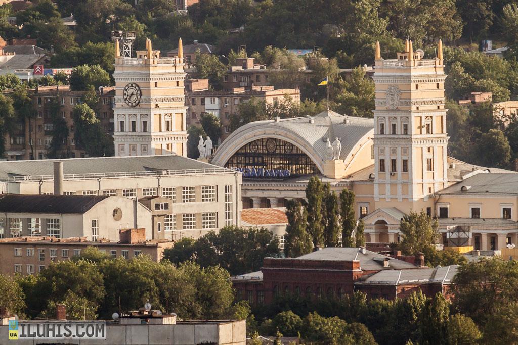 Вид на ЖД вокзал