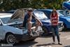 Соревнования по автослалому на авторынке Барабашово.