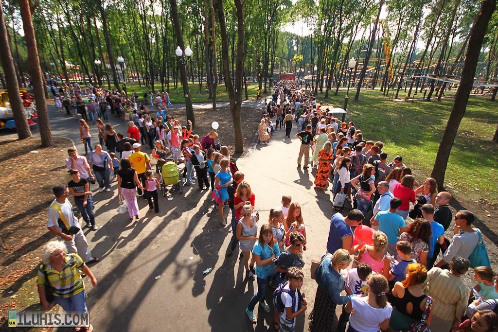 Аттракционы в Парке горького в Харькове