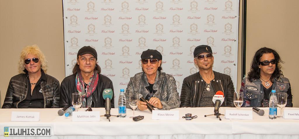 Пресс-конференция Scorpions в Харькове