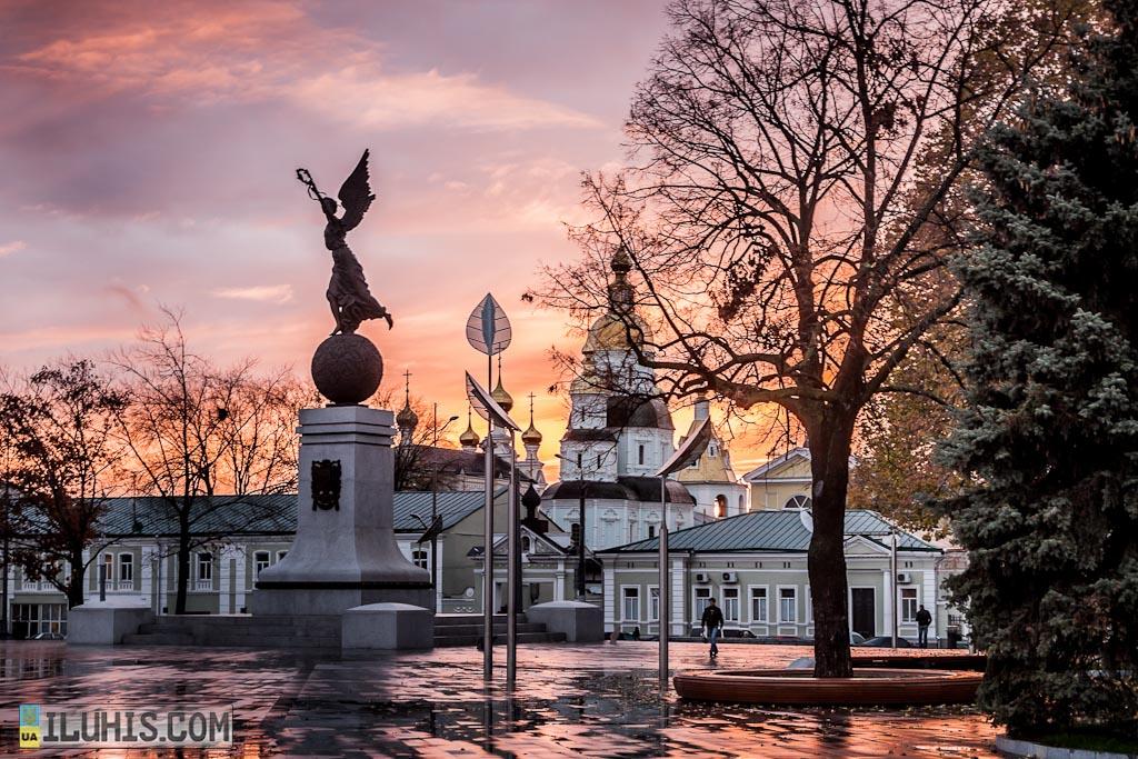 Площадь Конституции. Закат