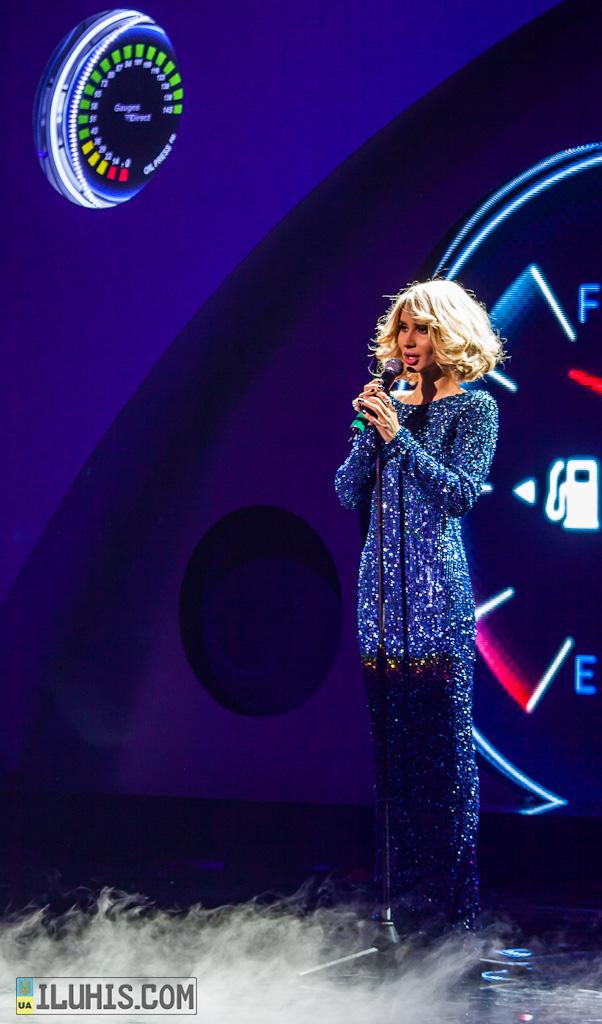 Светлана Лобода на праздновании 20 лет ФАУ, награждение призеров 2012 года