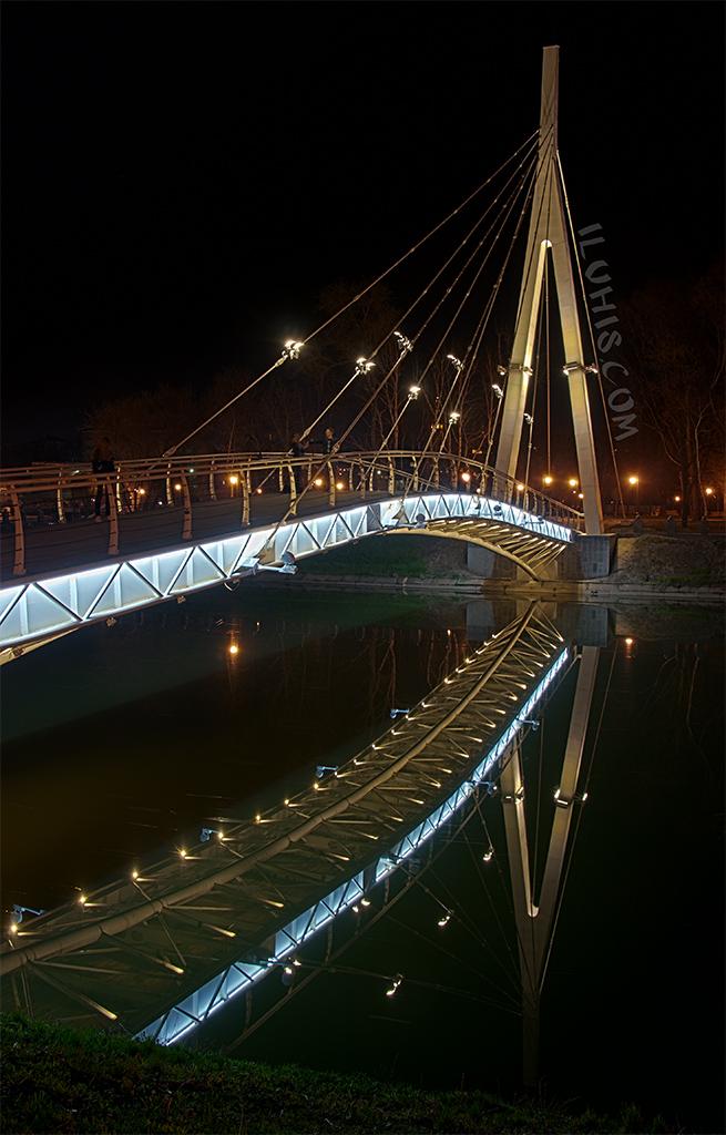 Подвесной мост в Харькове